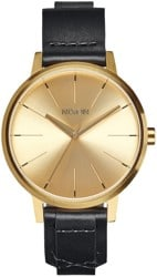 Nixon Kensington Leather Watch - gold/bridle