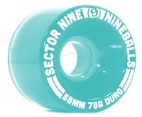 Sector 9 58mm Nineballs Longboard Wheels - light blue (78a)