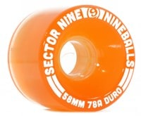 Sector 9 58mm Nineballs Longboard Wheels - light orange (78a)