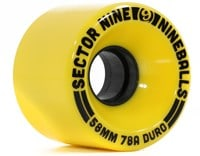 Sector 9 58mm Nineballs Longboard Wheels - yellow (78a)