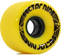 Sector 9 64mm Nineballs Longboard Wheels - yellow (78a)