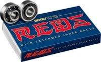 Bones Bearings Race Reds Skateboard Bearings - black