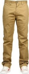Volcom Frickin Modern Stretch Chino Pants - dark khaki