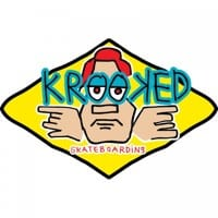 Krooked Arketype Sticker - yellow