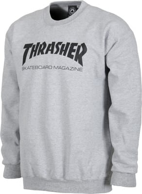 Thrasher Skate Mag Crew Sweatshirt - grey - view large