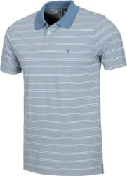 Volcom Wowzer Stripe Polo - grey blue