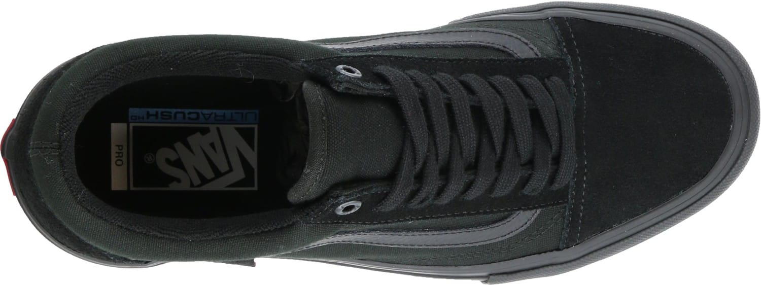Vans Old Skool Pro Skate Shoes - blackout - Free Shipping 71f61cc2f