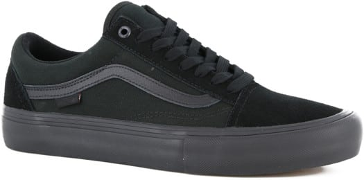Vans Old Skool Pro Skate Shoes - blackout - view large