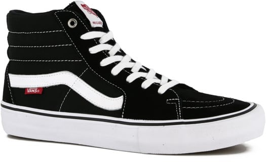 Vans Sk8-Hi Pro Skate Shoes - black/white - view large