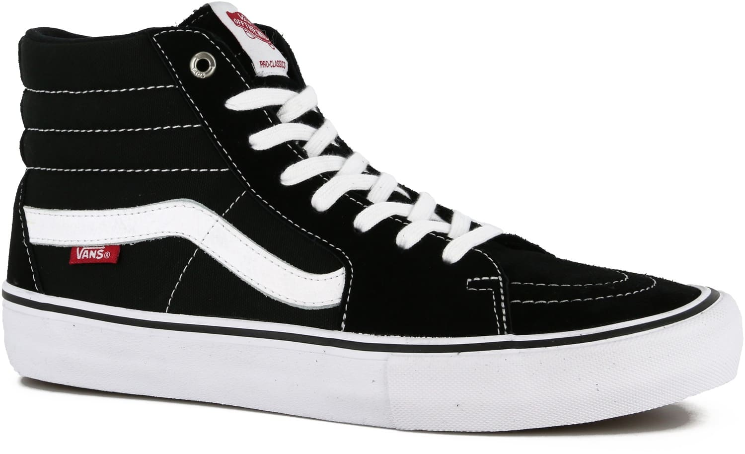Vans Sk8-Hi Pro Skate Shoes - black/white - Free Shipping