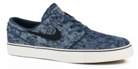 Nike SB Zoom Stefan Janoski Canvas Premium Skate Shoes - squadron blue/black/summit white/gum medium brown