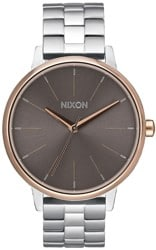 Nixon Kensington Watch - silver/rose gold/taupe