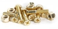 Bro Style Bro Bolts Skateboard Hardware - gold