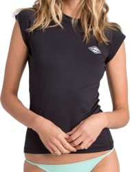 Billabong Core Regular Fit S/S Short Sleeve Rash Guard - black
