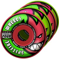 Spitfire Formula Four Radial Skateboard Wheels - neuro melon pink/green (99d)