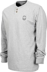 Spitfire Stock Bighead Embroidered Thermal L/S T-Shirt - heather grey