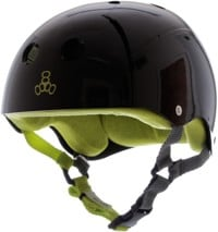 Triple Eight Brainsaver Multi-Impact Sweatsaver Skate Helmet - black glossy/green