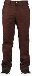 Dickies Industrial Slim Straight Work Pants - chocolate brown
