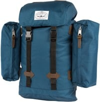 Poler Retro Rucksack Backpack - blue steel