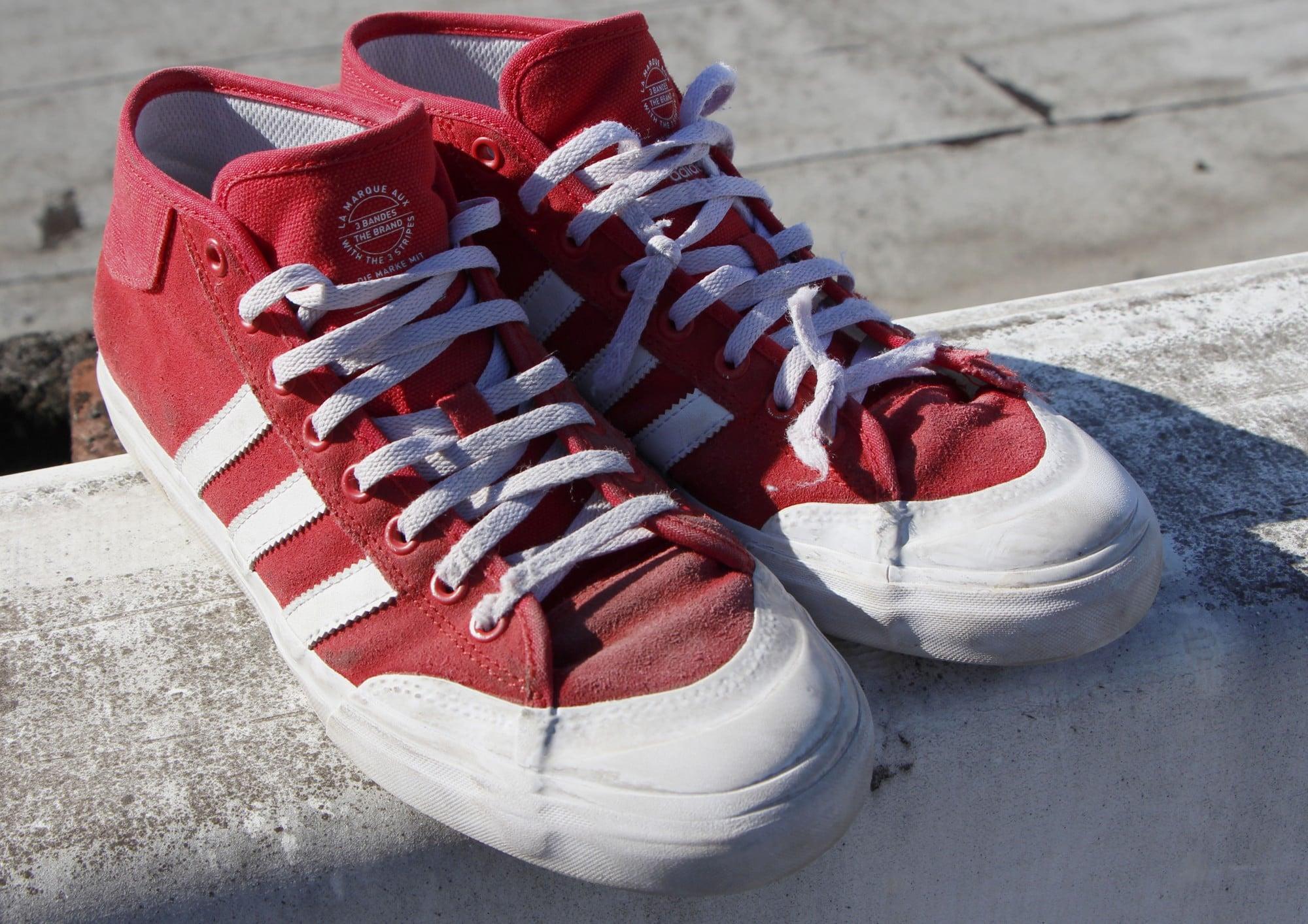 adidas Matchcourt Mid Skate Shoes Wear Test Review  798d62f69