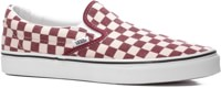 Vans Classic Slip-On Skate Shoes - (checkerboard) rhubarb/white