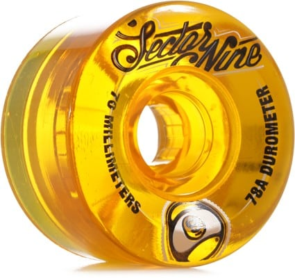 Sector 9 70mm Top Shelf Nineball Longboard Wheels - yellow (78a) - view large
