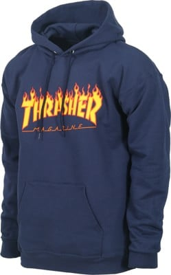 Thrasher Flame Hoodie - navy - view large