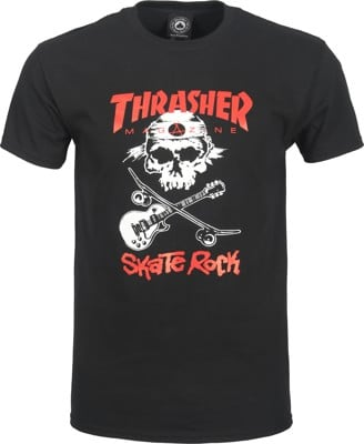 Thrasher Skate Rock Skull T-Shirt - black - view large