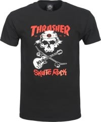 Thrasher Skate Rock Skull T-Shirt - black