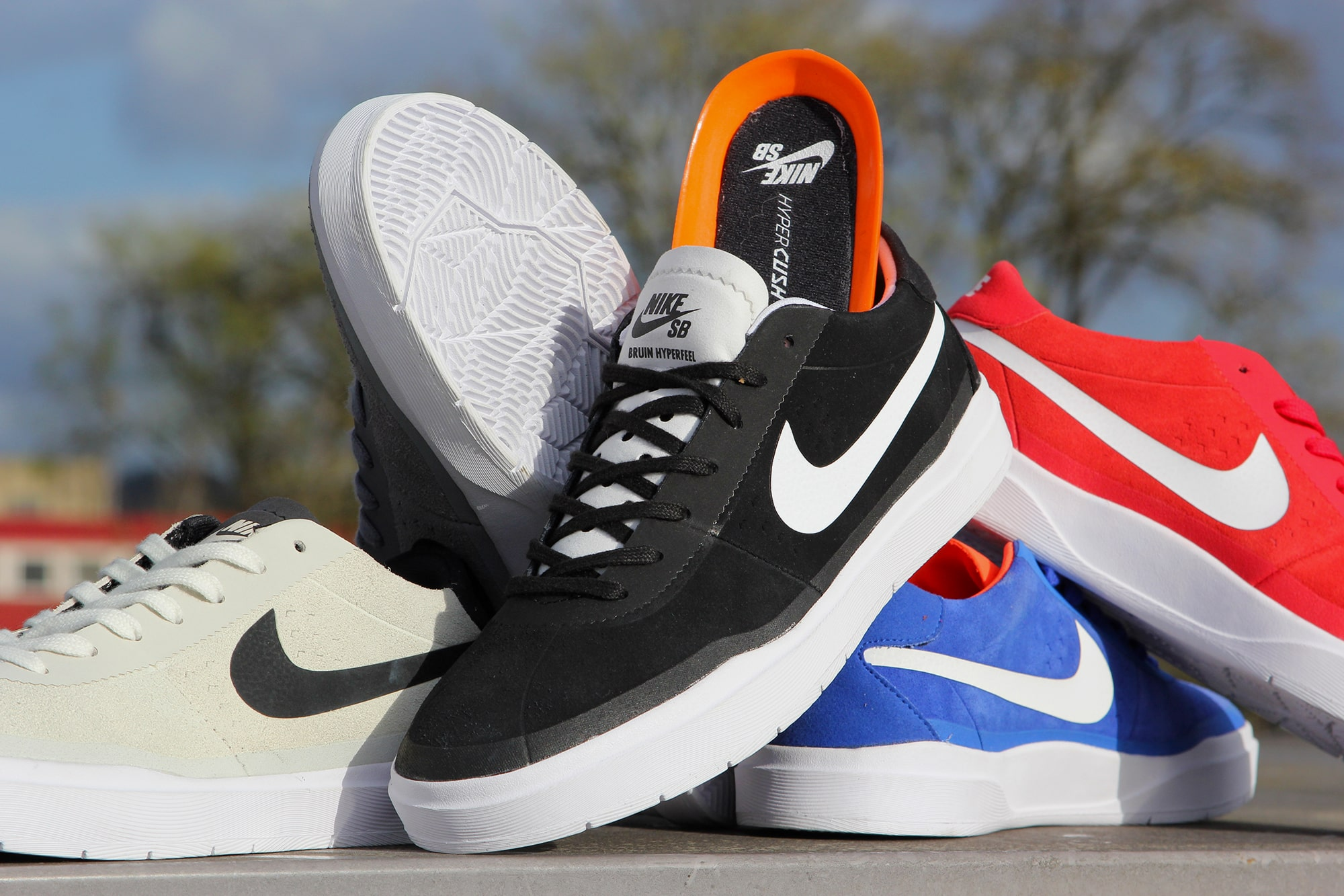 check out 45d7d c8a45 Shop Nike SB Bruin Hyperfeel Skate Shoes