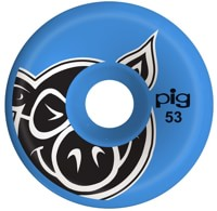Pig Head Conical Skateboard Wheels - blue (101a)
