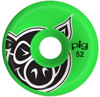 Pig Head Conical Skateboard Wheels - green (101a)