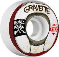 Bones Gravette STF V2 Pro Skateboard Wheels - wasted life (83b)