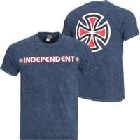 Independent Bar/Cross T-Shirt - mineral navy