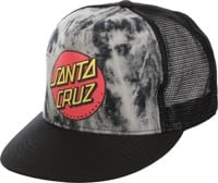 Santa Cruz Classic Dot Trucker Hat - black/tie dye