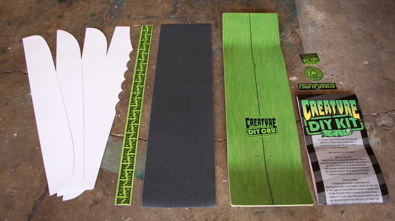 How to shape your own skate deck creature diy kit step one outlining your shape solutioingenieria Images