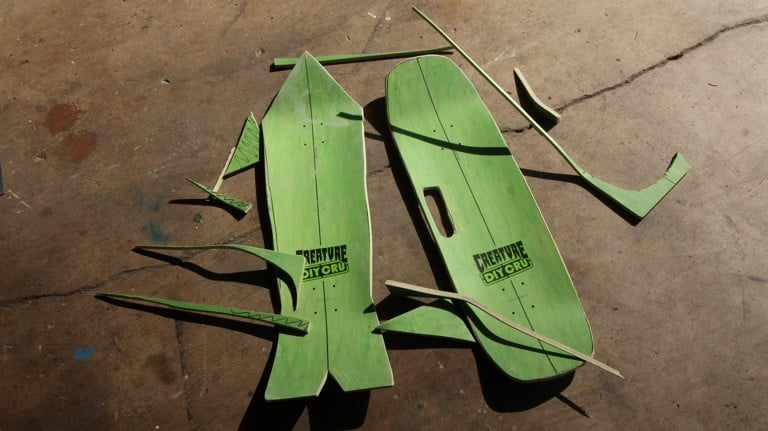 How To Shape Your Own Skate Deck Creature Diy Kit Tactics