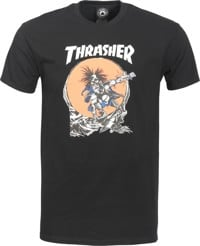 Thrasher Skate Outlaw by Pushead T-Shirt - black