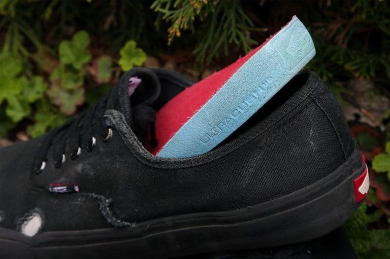 Back Of A Vans Shoe Black Thin