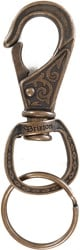 Brixton Scroll Key Clip Keychain - antique bronze
