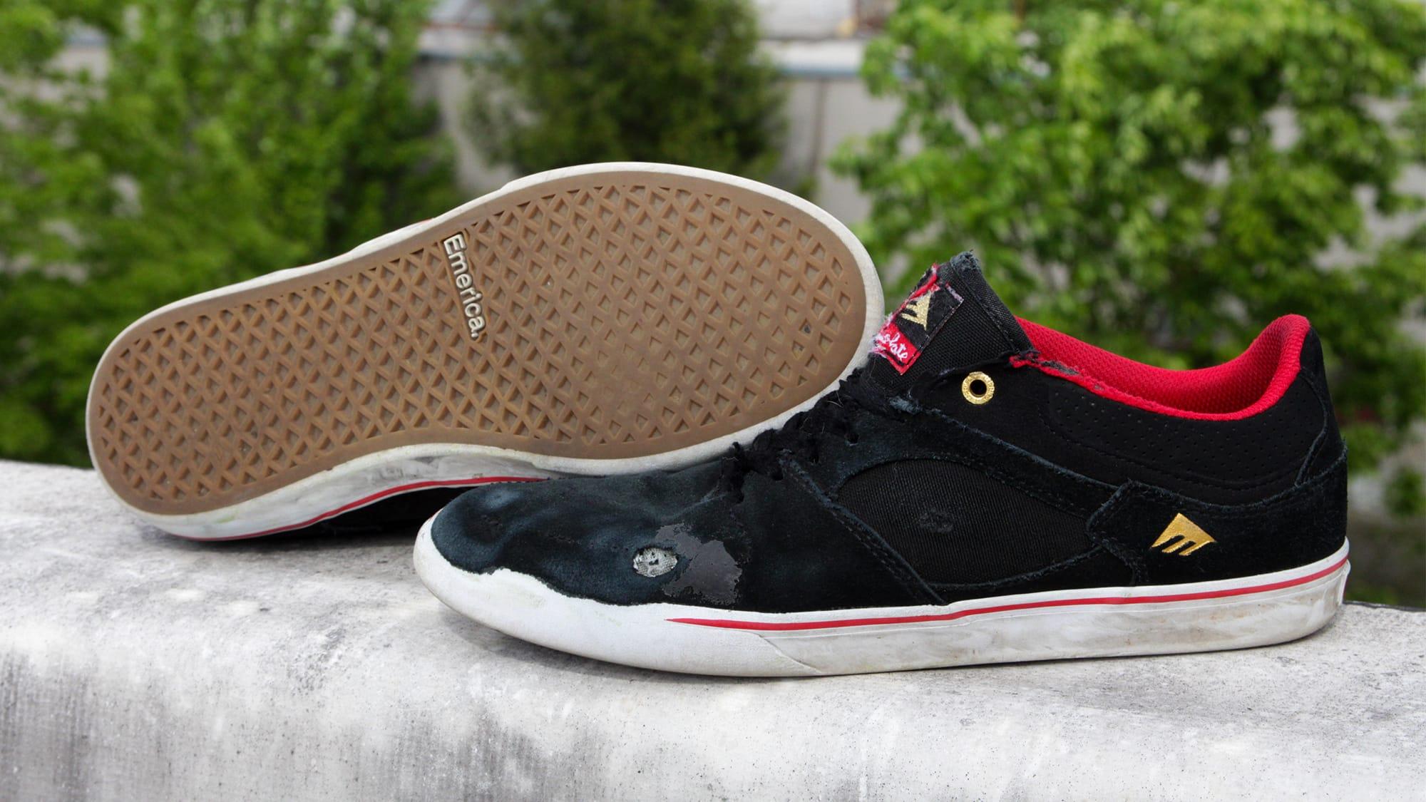 Shop Emerica Hsu Low Vulc Skate Shoes