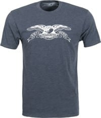 Anti-Hero Basic Eagle T-Shirt - navy tri-blend heather