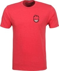 Spitfire Lil Bighead Fill T-Shirt - red tri-blend heather