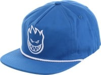 Spitfire Bighead Unstructured Snapback Hat - royal