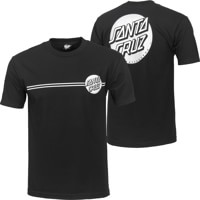 Santa Cruz Other Dot T-Shirt - black w/ silver