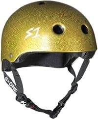 S-One Lifer Dual Certified Multi-Impact Skate Helmet - gold gloss glitter