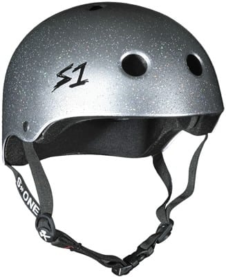 S-One Lifer Dual Certified Multi-Impact Skate Helmet - silver gloss glitter - view large