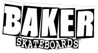 Baker Brand Logo Sticker - white/black
