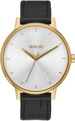 Nixon Kensington Leather Watch - gold/black/gator