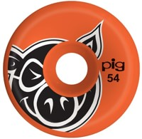 Pig Head Conical Skateboard Wheels - orange (101a)